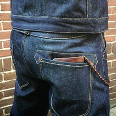 Rising sun Blacksmith Jean IND RAW | Black & Blue