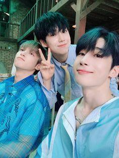lee hangyul, lee eunsang and han seungwoo - - produce x 101 Korean Boy Bands, South Korean Boy Band, Yohan Kim, Dsp Media, Fandom, Twitter Update, Summer Feeling, Soyeon, Kpop Boy