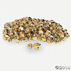 Gold jingle bells.  These would be cute in mason jars or apothecary!