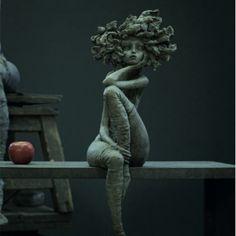 Nocturna - Valérie Hadida - Bronze - Galerie Albane Art Sculpture, Bronze Sculpture, Ceramic Sculpture Figurative, Contemporary Sculpture, Blender 3d, Clay Art, Oeuvre D'art, Ceramic Art, Insta Art