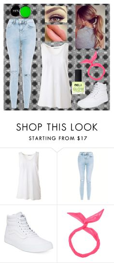 """""""Black Lit Dance"""" by peace8sign ❤ liked on Polyvore featuring T By Alexander Wang, Vans and ncLA"""