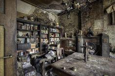 the once opulent study in the Château de la Forêt – The Castle ...