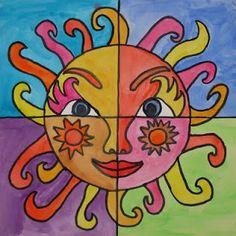 zonnige zon
