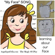 Super simple Song about the Face, perfect for preschool, with some ideas for activities inside also. (bilingual italian/english) #nurseryrhyme