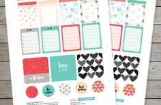 Free Valentine's Day printable stickers for planners