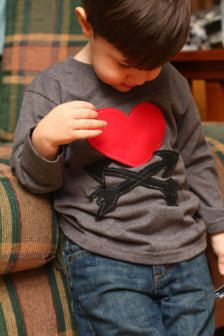 Clothing in For Kids & Baby - Etsy Valentine's Day    I could totally make this....in all my free time.