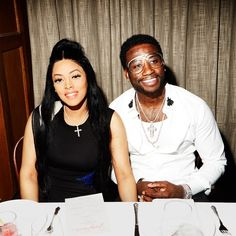 Keyshia Ka'oir and Gucci Mane last night at a dinner in his honor. Gucci Mane Party