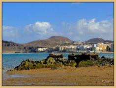 Bajamar en Playa de Las Canteras. Gran Canaria.; La Isleta