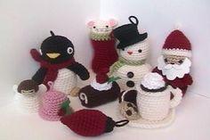Amigurumi Crochet Woodland Christmas Ornament Pattern Set Digital Download | Crochet christmas ...