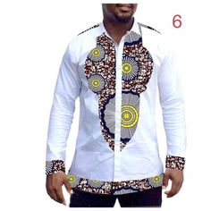 Items similar to Dashiki ankara wax African print clothing custom made dashiki shirts african print fashion patchwork shirt men long sleeve top on Etsy African Wear Styles For Men, African Shirts For Men, African Dresses Men, African Fashion Skirts, African Attire For Men, African Men Fashion, Mens Fashion, Dashiki Shirt, African Print Clothing