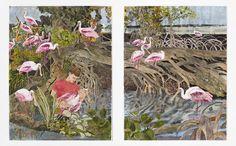 Hernan Bas | A pink flock (2015) | Artsy
