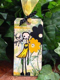 Claudine's Art Corner: Stampotique Image Mela by Daniel Torrente atop a gelli print background