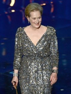 """Here's Meryl as we know her. Looking all classy and elegant. 