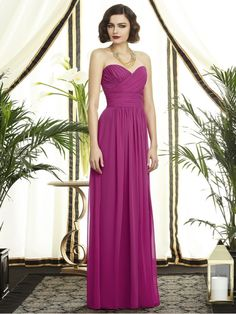 A-line Sweetheart Floor-Length Chiffon Wedding Party / Bridesmaid Dresses