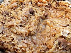 Polish Kapusta, crock pot comfort food to feed a crowd.  Cabbage, butter, onions, garlic, salt & pepper, then add cooked noodles after cabbage is soft.  Soo Good  DB
