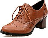 """#ad  Odema Women Brogue Pumps Wingtip Lace-Up High Heel Oxfords Shoes  Odema is a USA registered fast-fashion brand, dedicated to offer comfortable and stylish daily-wear products. We believe life is to live like what you imagined. What you wear brings you inspiration of being yourself.  Size reference:  Shoes inside long:  US4.5=8.86""""=22.5CM  US5.5=9.12""""=23.1CM  US6=9.25""""=23.5CM  US7=9.50""""=24.1CM  US7.5=9.62""""=24.5CM  US8.5=9.87""""=25.1CM Model number:170220XZ1340C54Z850  ht.."""