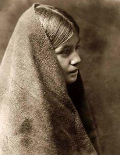 Nabkatsheb, a Tewa Indian Girl, taken in 1905 by Edward S. Curtis.