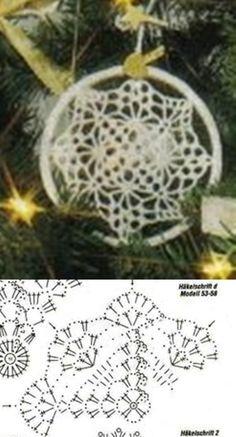 183 Crochet Snowflake Pattern, Crochet Snowflakes, Crochet Doilies, Crochet Tree, Crochet Chart, Chrochet, Dream Catcher, Coasters, Crochet Earrings