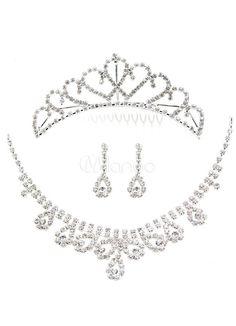 Ensemblede bijoux nuptial design de gouttes de rhinestone - Milanoo.com