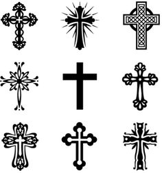 Silhouette Cross - Christian Clear Stamp from Nellie Snellen. This stamp shows the Crucifixion in silhouette. Small Cross Tattoos, Cross Tattoos For Women, Tattoos For Women Half Sleeve, Hand Tattoos For Guys, Cool Small Tattoos, Tattoo Set, Cover Up Tattoos, Pretty Cross Tattoo, Cruces Tattoo
