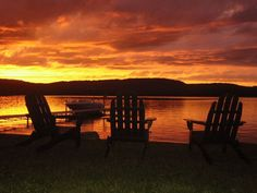 Evenings at Sebec Lake, Dover-Foxcroft, Maine (makes winter worth it!)