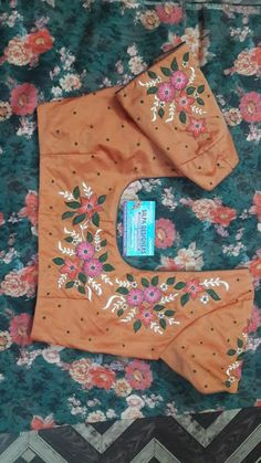 Brocade Blouse Designs, Pattu Saree Blouse Designs, Sari Blouse Designs, Designer Blouse Patterns, Bridal Blouse Designs, Kurta Designs, Embroidery Works, Embroidery Saree, Hand Embroidery