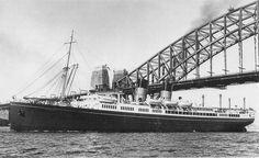 Union Stean Ship Co of New Zealand - TSS Monowai Merchant Navy, Cruise Ships, Diesel Engine, Sydney Harbour Bridge, Princesses, New Zealand, Sailing, Past, Ocean