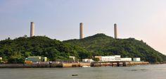The giant chimneys of Lamma Power Station towering over idyllic Lamma Island Hong Kong. [OC] [4288x2042]