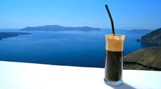 What about a coffee break with the amazing view of Santorini <3 www.allsantorini.com