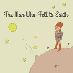 The Man Who Fell to Earth (homage to David Bowie and The Little Prince – Artist: Jarrett J. Krosoczka