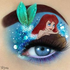 of The Most Stunning Makeup Art By Tal Peleg Who Has Taken It To A Whole New Level Tal Peleg is a makeup artist from Israel who creates stunning and unique Makeup Eye Looks, Eye Makeup Art, Crazy Makeup, Eye Art, Makeup Tips, Disney Eye Makeup, Ariel Makeup, Disney Inspired Makeup, Make Up Designs