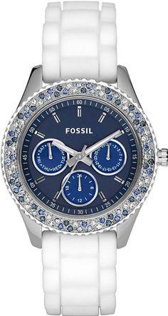 #Fossil #Watch , Fossil ES2871 Ladies Stella White Blue Watch