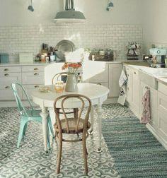 Vicky's Home: Suelos hidráulicos con un toque vintage / Historic tiles with a vintage touch