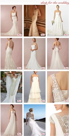Gorgeous wedding gowns - Including flattering & affordable styles.