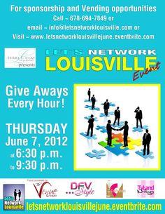 RSVP for Let's Network Louisville Networking Event $5 http://letsnetworklouisvillejune.eventbrite.com/
