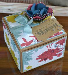 klikaklakas kreativer kram: Leporello-Box für die MAMA