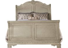 picture of Cortinella White 3 Pc Queen Sleigh Bed  from Beds Furniture