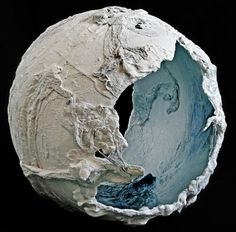 "Maggie Ayres ""Curve"" - a sculpture in plaster, scrim and acrylic."