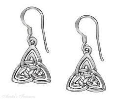 Celtic Trinity Knot Dangle Earrings