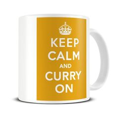 MG028 Magoo Keep Calm and Curry On Funny MUG - gift for curry lovers: Amazon.co.uk: Kitchen & Home