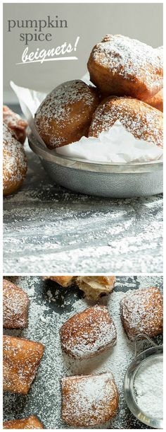 Pumpkin Spice Beignets. Warm and fluffy, perfect for breakfast!   Foodness Gracious: