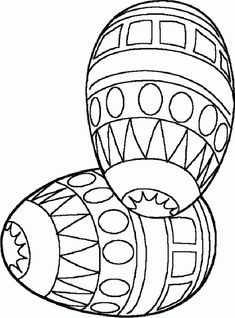 Easter coloring pages: Two Easter eggs