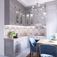 38 ideas bathroom tiny design kitchens for 2019 Kitchen Room Design, Best Kitchen Designs, Home Decor Kitchen, Kitchen Interior, Home Interior Design, Home Kitchens, Bathroom Wallpaper Contemporary, Classical Kitchen, Small Apartment Design