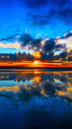 Cook Strait, Manakau, New Zealand, sea, sunset, clouds