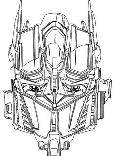 face optimus prime transformers coloring pages - Optimus Prime Face Coloring Pages