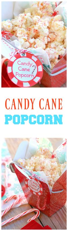 This Candy Cane Popcorn is simple and extremely addicting. It's great for neighbor gifts or just for movie night. the-girl-who-ate-everything.com