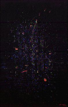 Azul ca. 1963 | Antonio Bandeira óleo sobre tela, c.i.d. 94.00 x 160.00 cm