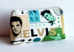 Elvis Presley - Makeup Bag or Pouch - The King on Etsy, $17.00