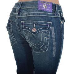 True Religion Womens Skinny Jeans Size 33 Big T Last Chance Purple Bartack NWT  #TrueReligion #SlimSkinny