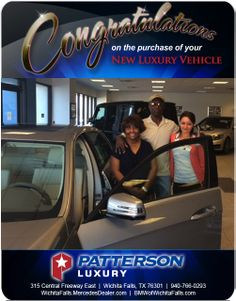 Congratulations to Gloria and Ruben Lamar on their new 2014 Delivery! - From Heike Misner at Patterson Luxury Luxury Vehicle, Luxury Cars, New Bmw, Mercedes Benz, Congratulations, Delivery, Vehicles, Rolling Stock, Fancy Cars